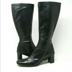 Donald Pliner Imani Leather Boots Tall Split Toe